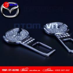 Đầu chốt đai dây an toàn cao cấp xe  Mazda đính đá