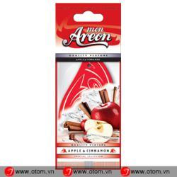 Lá thơm treo ô tô cao cấp – Areon Mon Apple & Cinnamon nhập khẩu EU Bulgaria